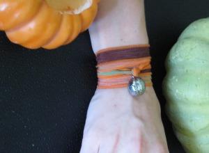 Halloween Heart Charm on Pumpkin Patch